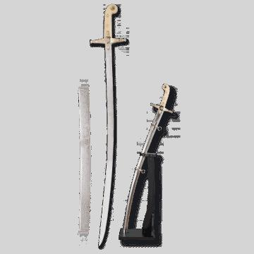 Sable modelo Ejército Español marca TOLE10. 78cm incluye vaina y peana