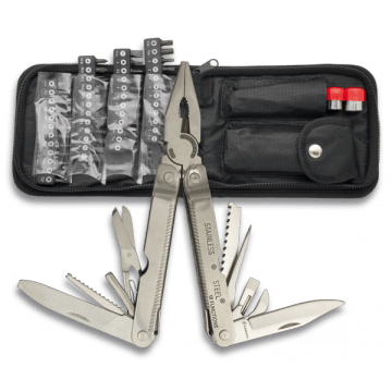 Multi-purpose plier marks Albainox. 84. different applications. With case
