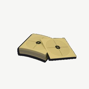 paquet de cibles (14 x 14 cm) - 100 pièces