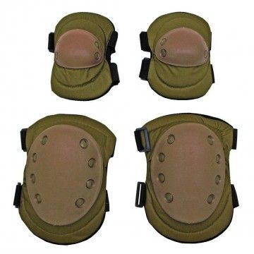 Set of knee pads and elbow pads OD TAN