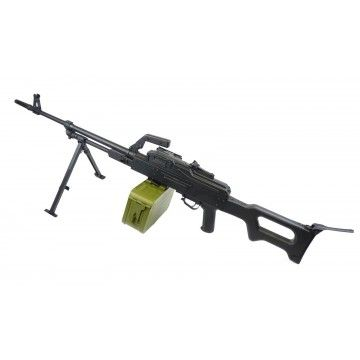 Fusil eléctrico de apoyo AEG PKM Black , de la marca A&K