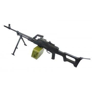Arma eléctria de apoyo AEG PKM Black , de la marca A&K