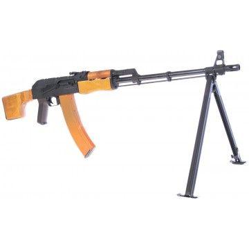 Arma eléctria de apoyo AEG CM052 RPK74 wood , de la marca Cyma