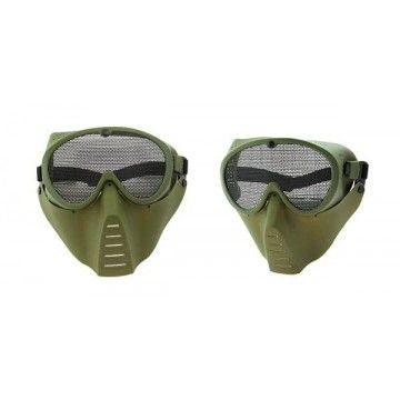 Color OD airsoft mask.