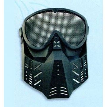 Black airsoft mask.