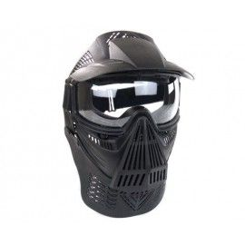 Máscara para airsoft de color negro con rejilla