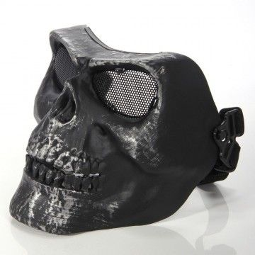 Máscara para airsoft de color negra, modelo SKULL II