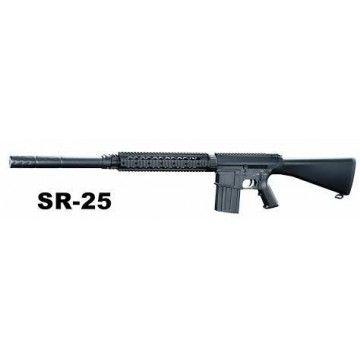 Fusil Sniper modelo SR25 de la marca A&K .