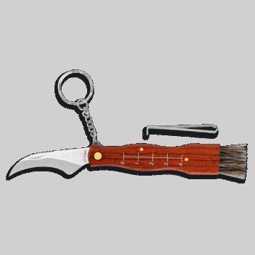 Navaja de trabajo para setas Albainox con mango de madera