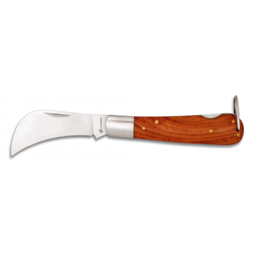 Knife work type tranchete with wooden handle