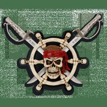 Cuchillo fantasía Calavera Pirata Tole 10 en caja.