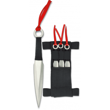 Launcher three-piece with nylon sheath knife Albainox