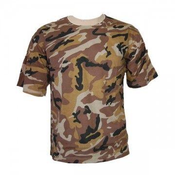 Camiseta de camuflaje marrón