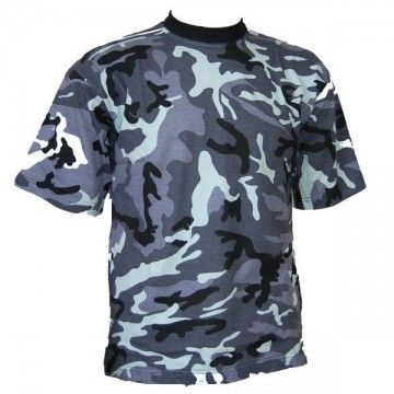 Camiseta de camuflaje azul