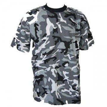 Camiseta de camuflaje gris-ártico