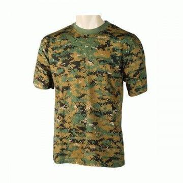 camiseta de camuflaje digital