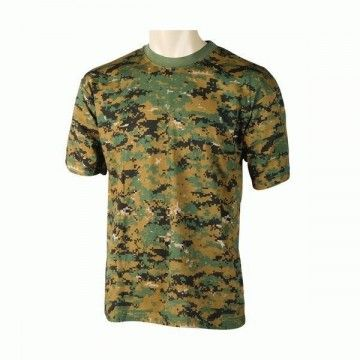 camiseta de camuflaje digital