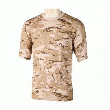 Camiseta de camuflaje árido pixelado digital del ejército español