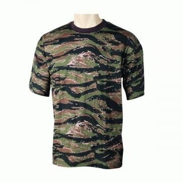 camiseta de camuflaje Tiger