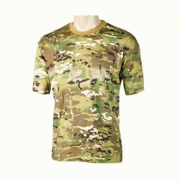 camiseta de camuflaje multicam