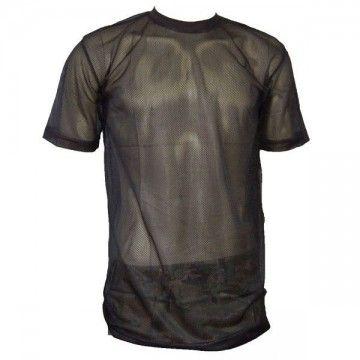 T-shirt military type grid militec black