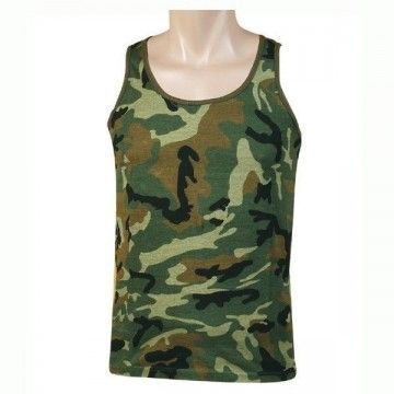 Strapless type camouflage forest t-shirt
