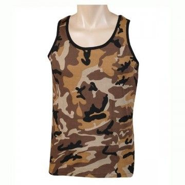 Strapless type desert camouflage t-shirt