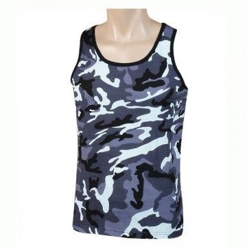 Strapless type camouflage navy t-shirt