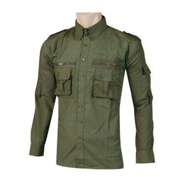 Camisa militar Tipo Cadet Verde