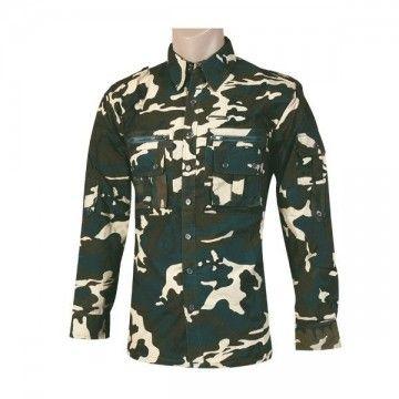 Camisa militar Tipo Cadet camuflaje