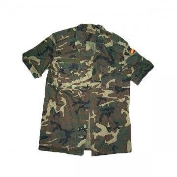 Camisa militar de manga corta tipo camuflaje EJÉRCITO ESPAÑOL