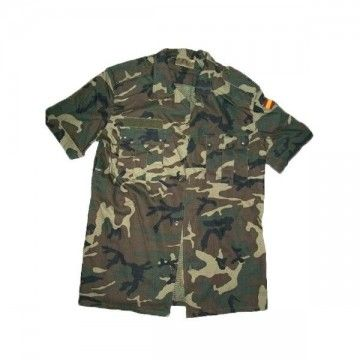 Short-sleeve military shirt type camouflage army Spanish