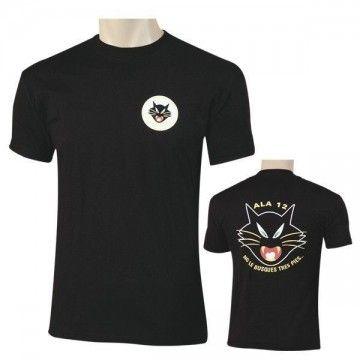 Camiseta ALA 12 'black cat' Ejército del Aire Español