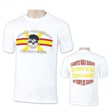 Camiseta BRIPAC del Ejército de tierra en blanco - SKULL Blanca