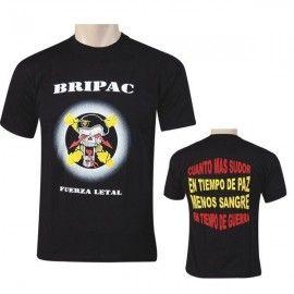 Camiseta BRIPAC del Ejército de tierra en negro - LETAL SKULL