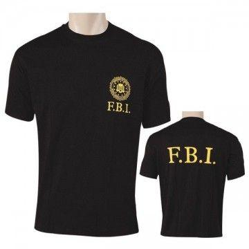 T-shirt black F.B.I.
