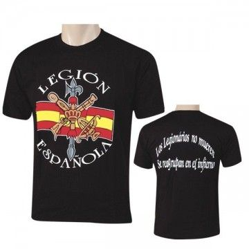 Camiseta Legión Española negra