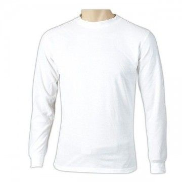Thermal shirt long sleeves white