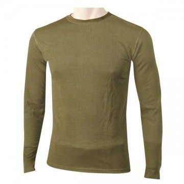 Green long sleeve thermal t