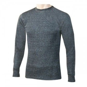 Grey long sleeve thermal t