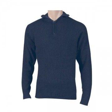 Jersey cremallera azul