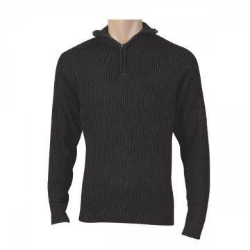 Black zipper sweater