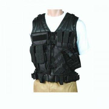 Veste tactique avec ceinture intégrée. Ombre noire