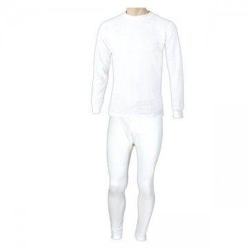 Traje térmico dos piezas de la marca FORAVENTURE. Blanco