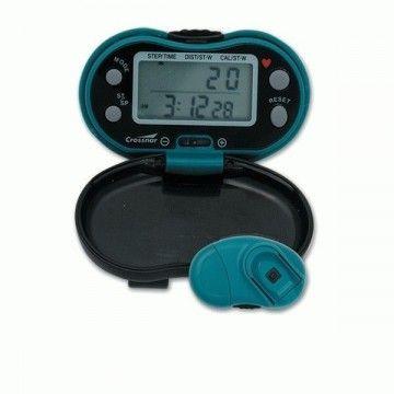 Schrittzähler + Herzfrequenz überwachen Crossnar. Blau