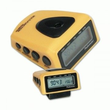 Pedometer Crossnar. Yellow