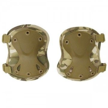 Pair of knee pads Airsoft of multicam color.