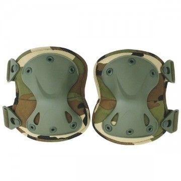 Color camo Airsoft tactical Kneepads.