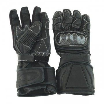 Biker with protection gloves
