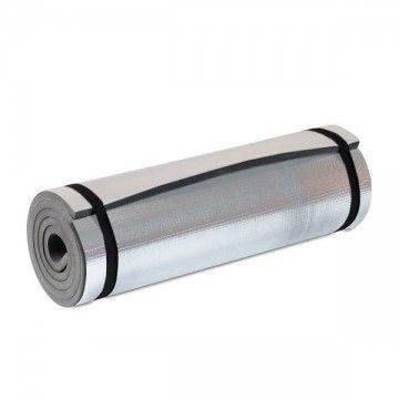 esterilla plateada con superficie aluminizada.